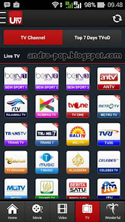 Aplikasi TV Lengkap (Lokal+Luar Negeri) Untuk Android Gratis