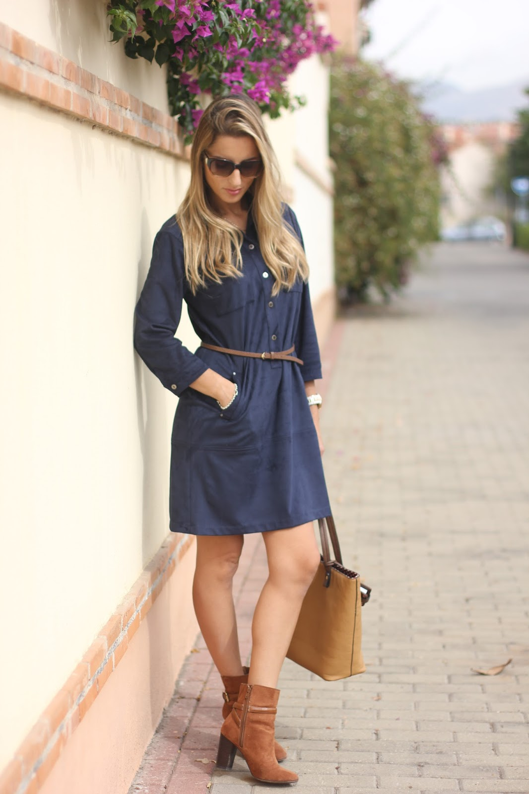 outfit dress blue andamio
