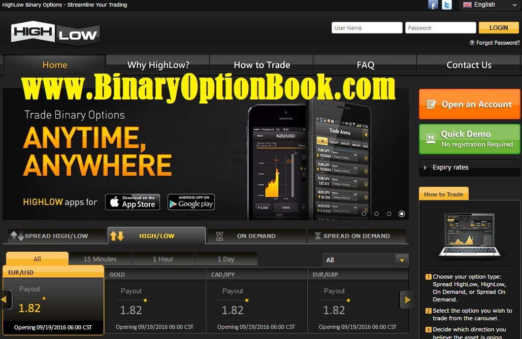 Binary Options Demo Account - Practice with No Deposit