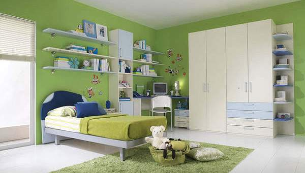 Bedroom Design for Minimalist Girls in Green