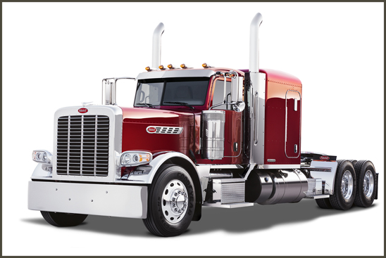 Peterbilt model 389 equipped with Pride & Class Package