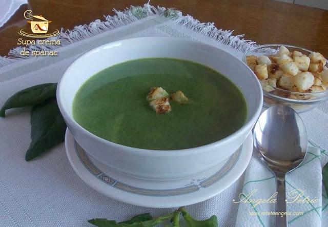 Reteta supa crema de spanac, spanac, supa