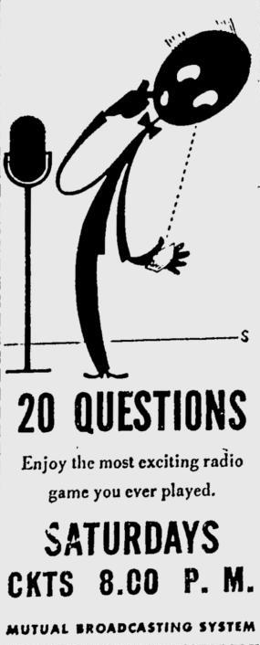 OTR Advertisements: 20 Questions (Ronson)