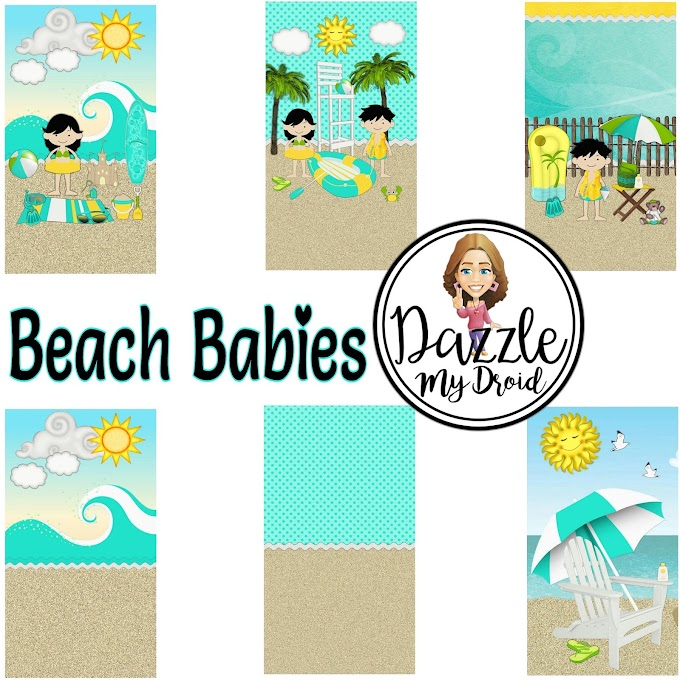 Beach babies wallpaper set