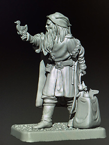 MZ625 Dwarf Merchant with Toys miniature preview from Mithril Miniatures.