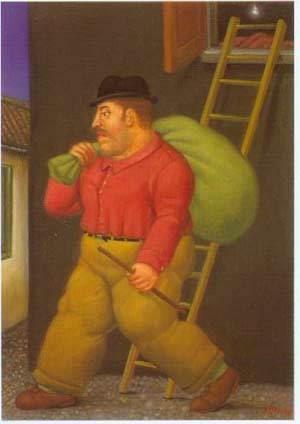 Ladrão - Fernando Botero e suas pinturas ~ O pintor das figuras volumosas