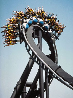 amusement park rides, floorless roller coaster