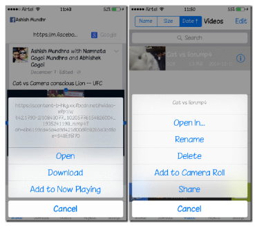 Download Facebook Video iPhone