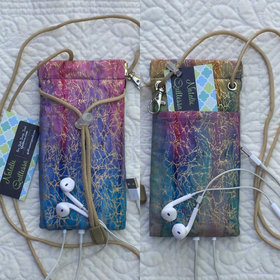 Quiltessa Patchwork Palette Cell Phone Purse Pattern On