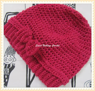free crochet headwear, free crochet cloche pattern, free crochet ladies hat