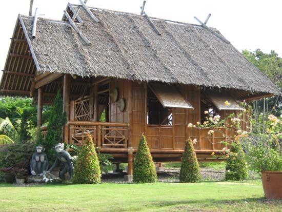 430 Gambar Rumah Menggunakan Bambu HD