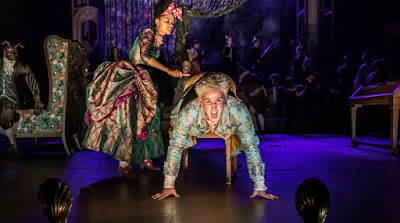 Karla Crome, Aiden Gillen  - Peter Schaffer's Amadeus - National Theatre - photo Marc Brenner