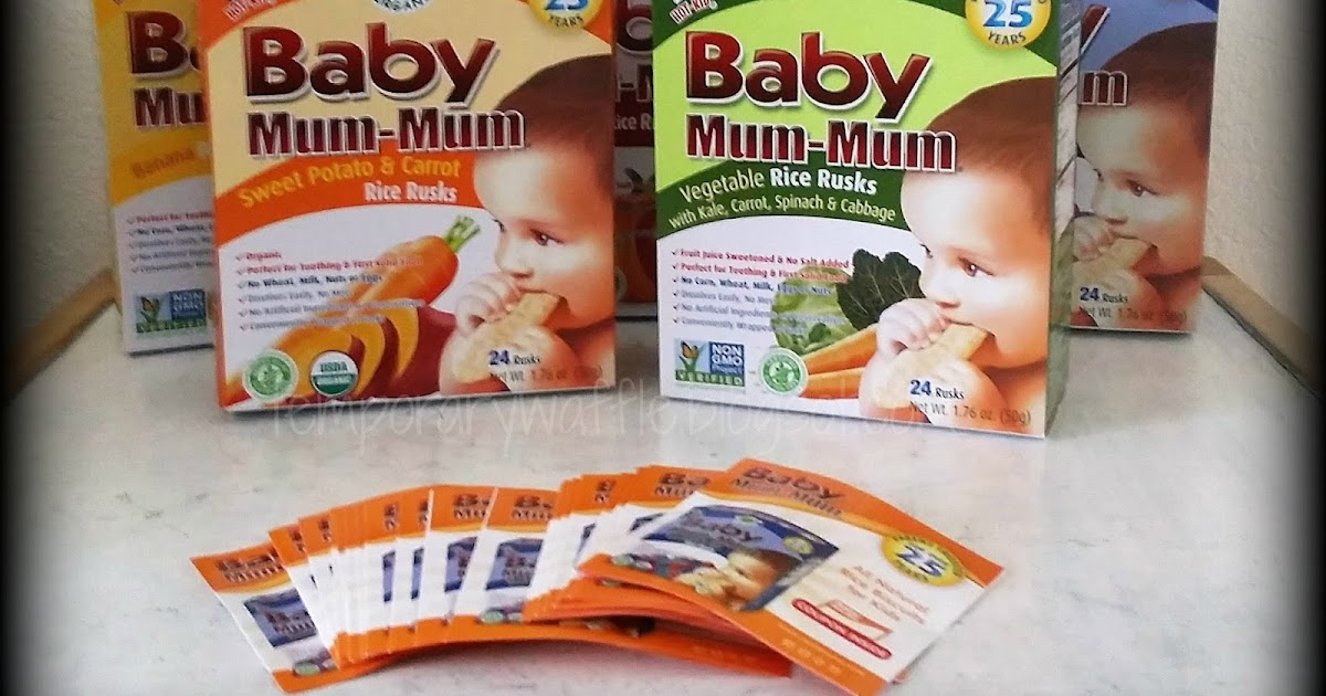 Temporary Waffle: Baby Mum Mum Rice Rusks Great For Teething!