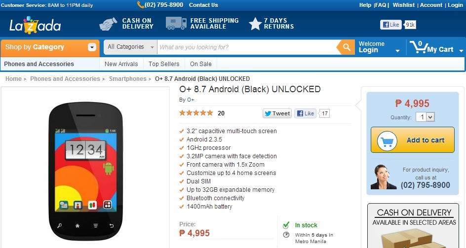 O+ 8.7 Android - Lazada Philippines