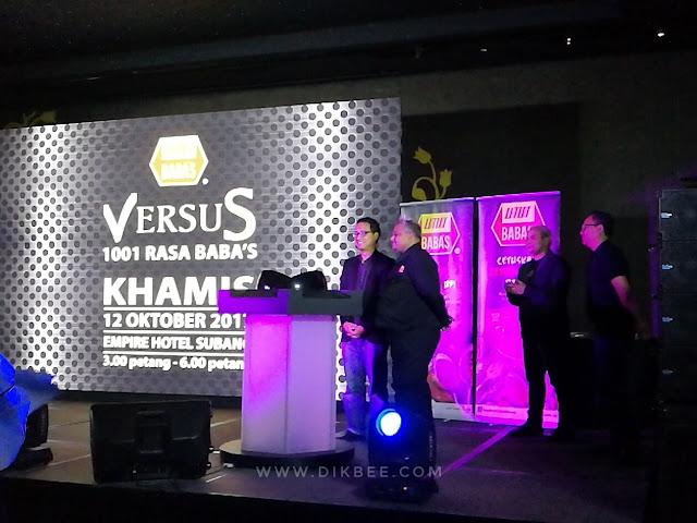 Rancangan Versus 1001 Rasa Baba's di TV3