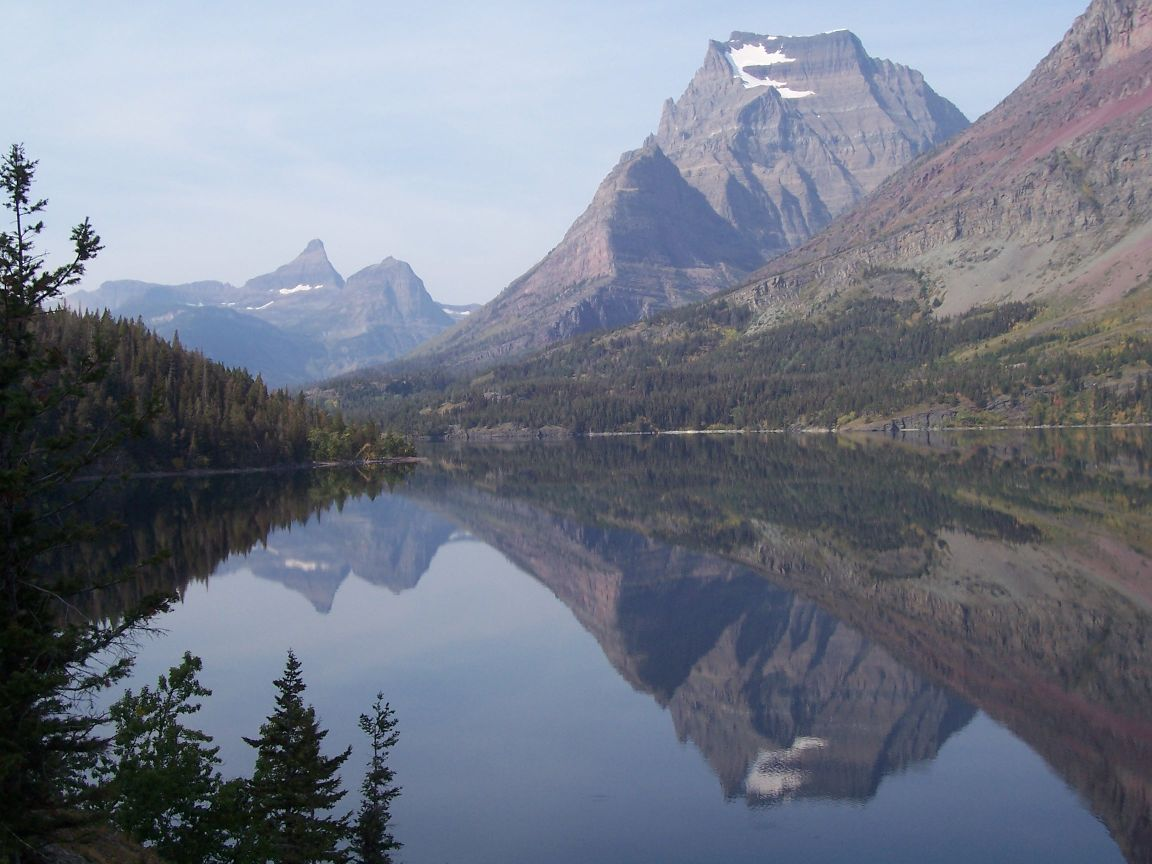Mountain Pictures: Mountains Reflected In Lake