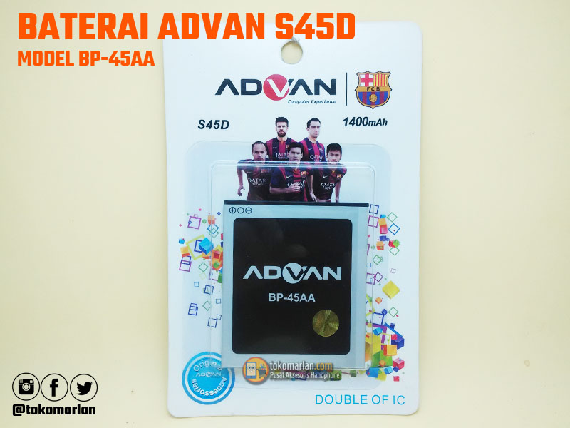 Harga Jual Baterai Advan BP 45AA S45D Original