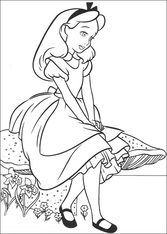 Fun Coloring Pages Alice In Wonderland