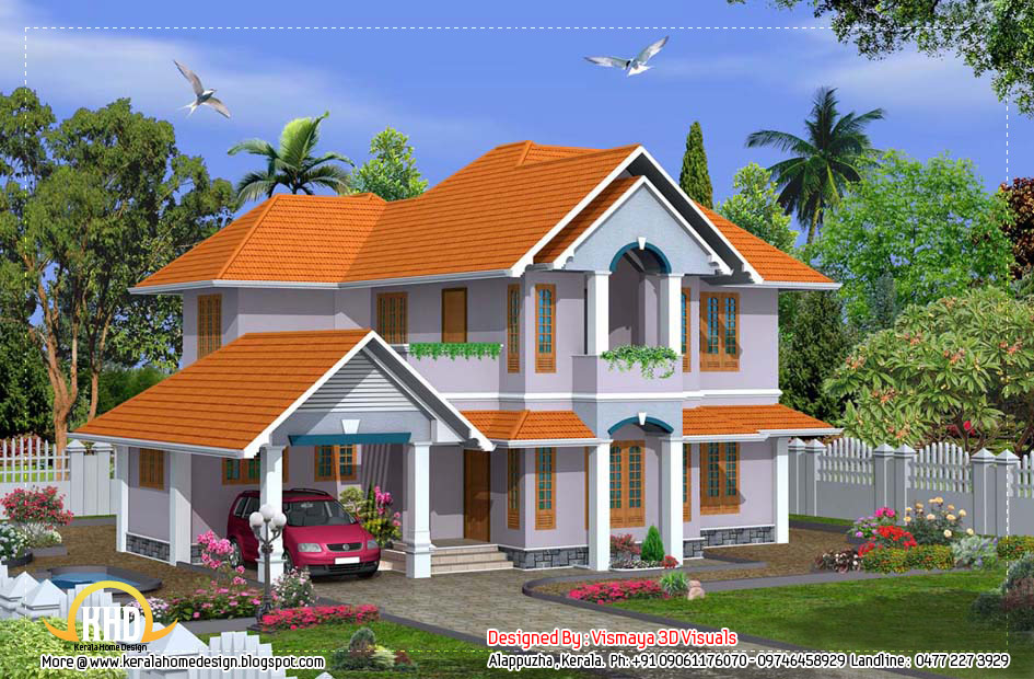 Beautiful kerala home design 2380 sq ft home appliance for Beautiful small house plans in kerala