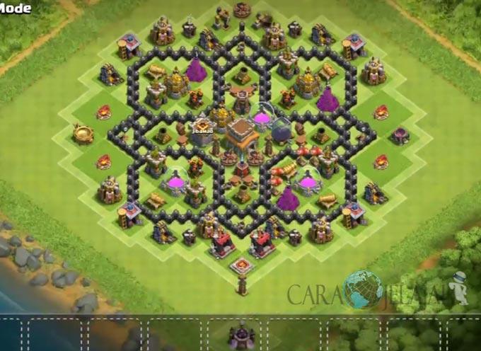 Base Hybrid TH 8 Clash Of Clans Terbaru Tipe 13