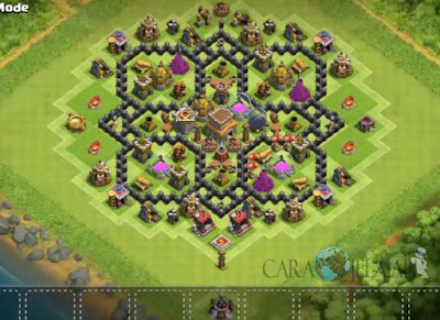 Base Hybrid TH 8 Clash Of Clans Terbaru Tipe 13