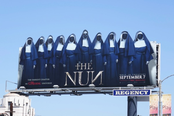 Nun cut-out extension billboard