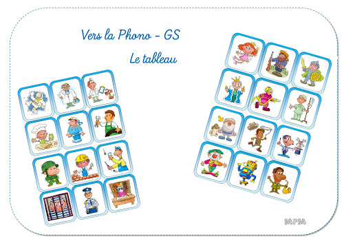 Vers la phono GS - Jeu Le tableau