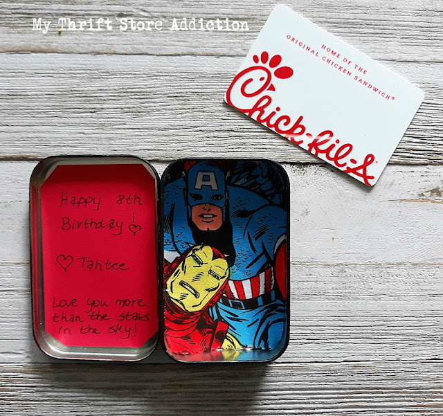 15 minute upcycled gift card tin