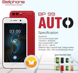 Firmware Bellphone BP99 Auto Tested