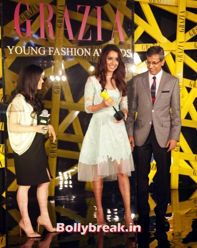 Shraddha Kapoor, Grazia Young fashion Awards Pics