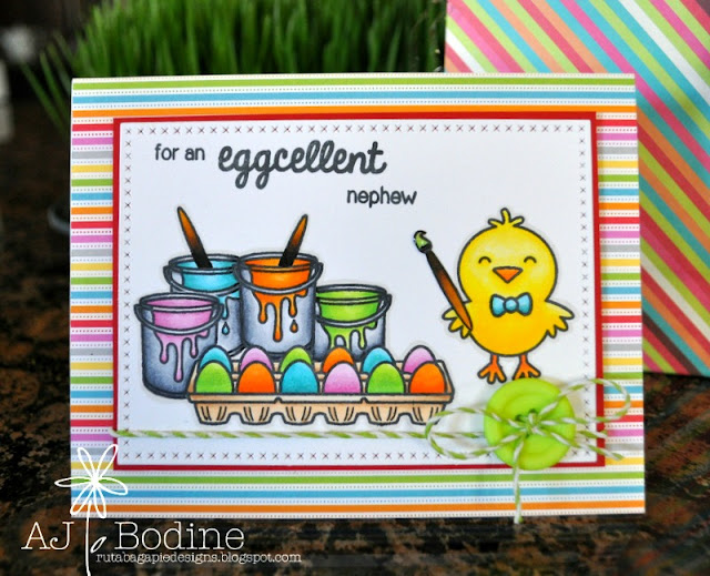Sunny Studio Stamps: A Good Egg Easter Card by AJ Bodine.