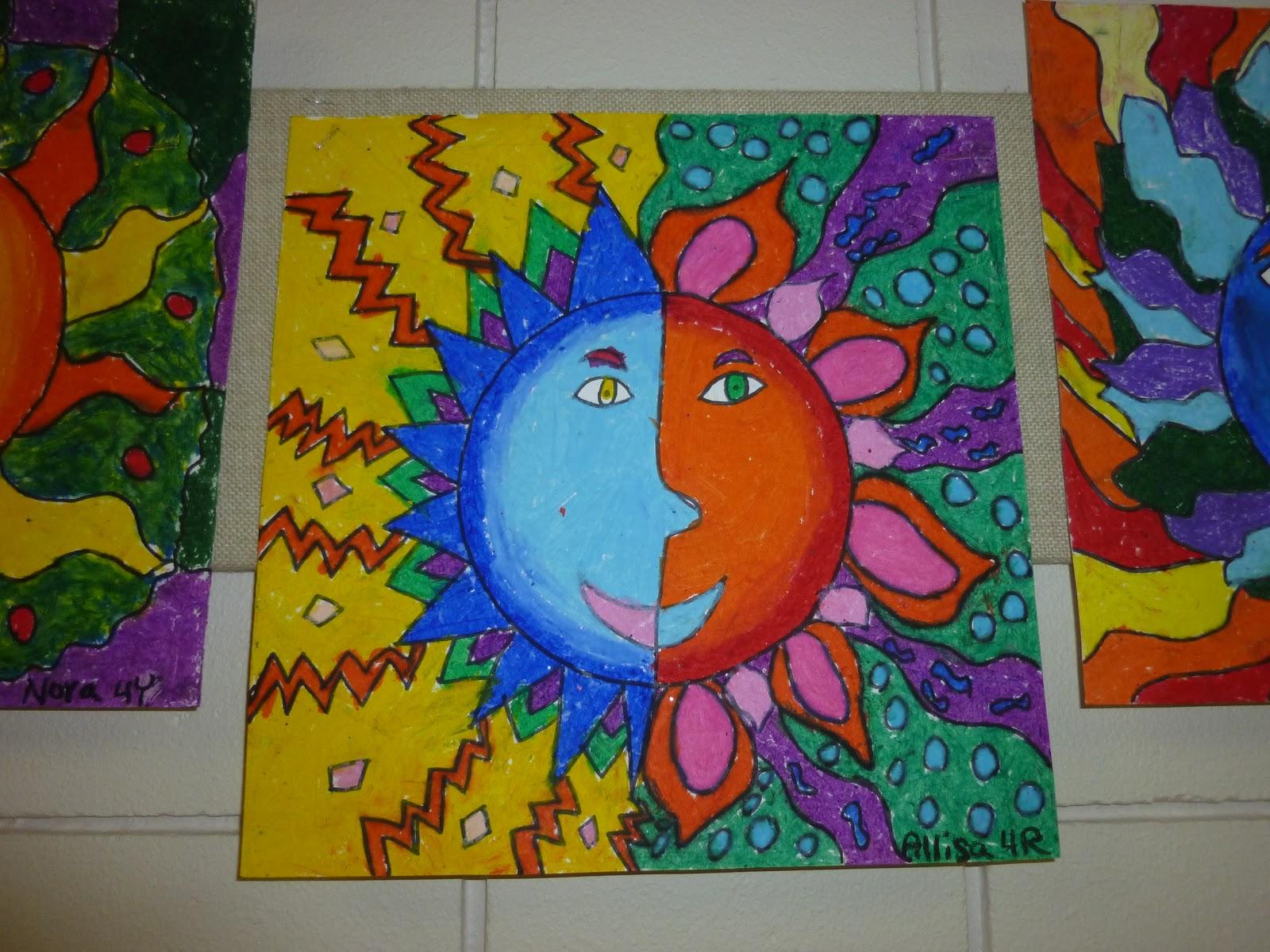 Mrs Werner S Art Room 4th Grade Oil Pastel Suns