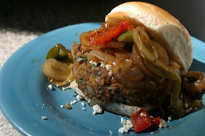 Fajita Burgers {Vegan} 2