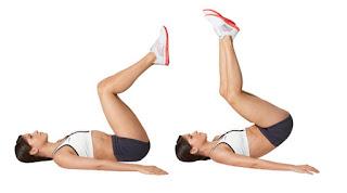 Przyciąganie kolan do klatki piersiowej w leżeniu, dziś coś na brzuch!