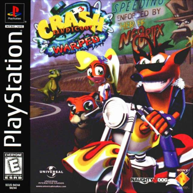 Crash Bandicoot 3: Warped - PSX - Portada