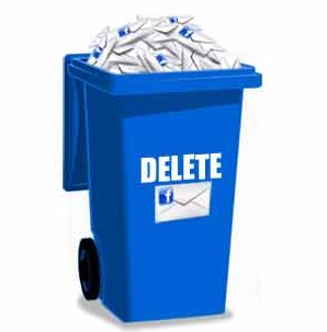 delete messages from facebook