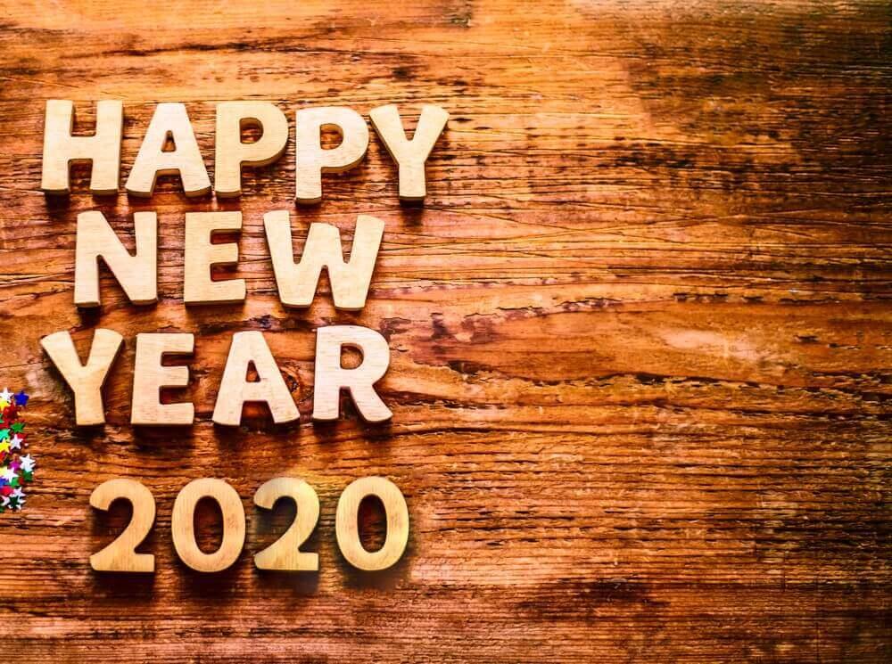 Happy New Year Wallpaper 2020 Wooden