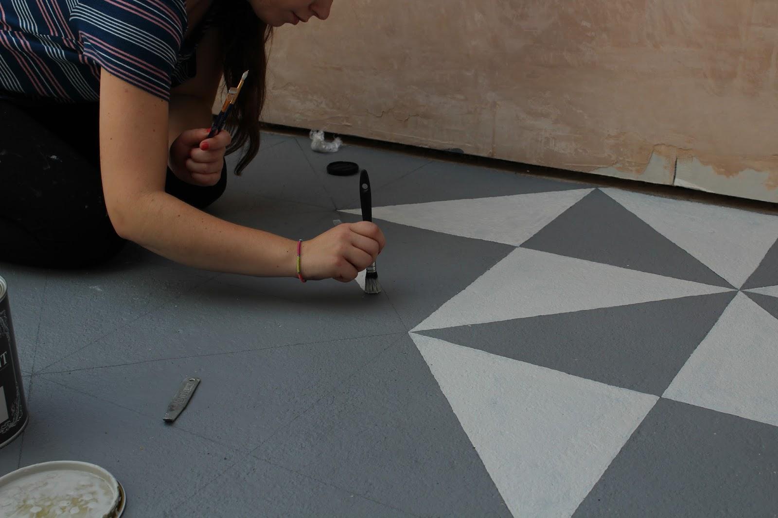 Floor Paint in Conservatory