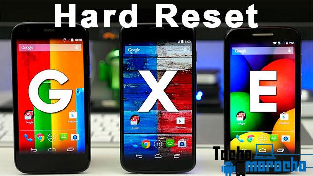 Hard reset Motorola Moto G, Moto E y Moto X (Primera, segunda y tercera generación)