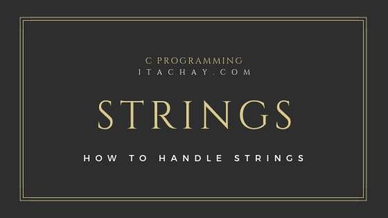 strigs in c programming