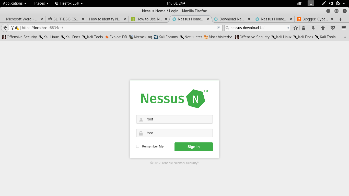 How to install Nessus and identify Network Vulnerabilities
