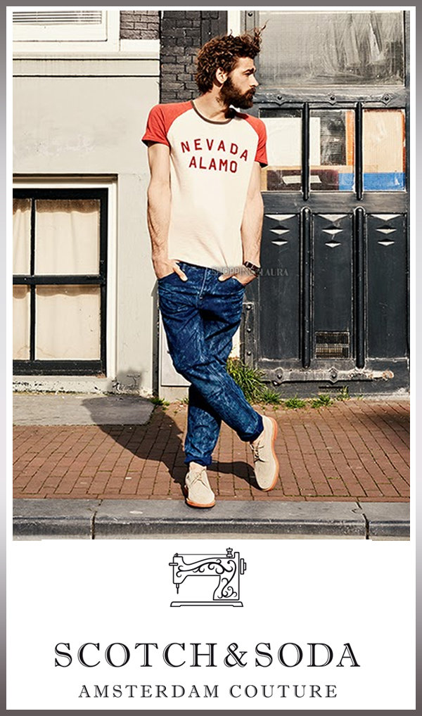 Ensemble T-shirt Rocker rétro et Jean Gitane - Reno's Acid SCOTCH & SODA
