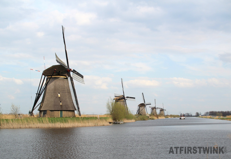 Kinderdijk five windmills in a row