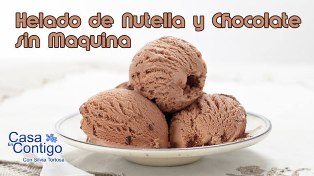 Helado de Nutella y chocolate