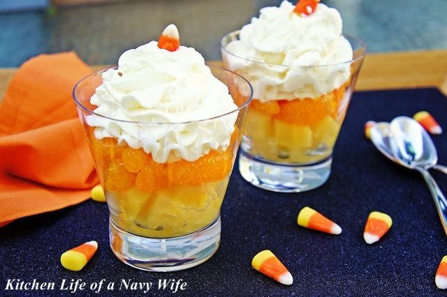 Candy Corn Fruit Cups