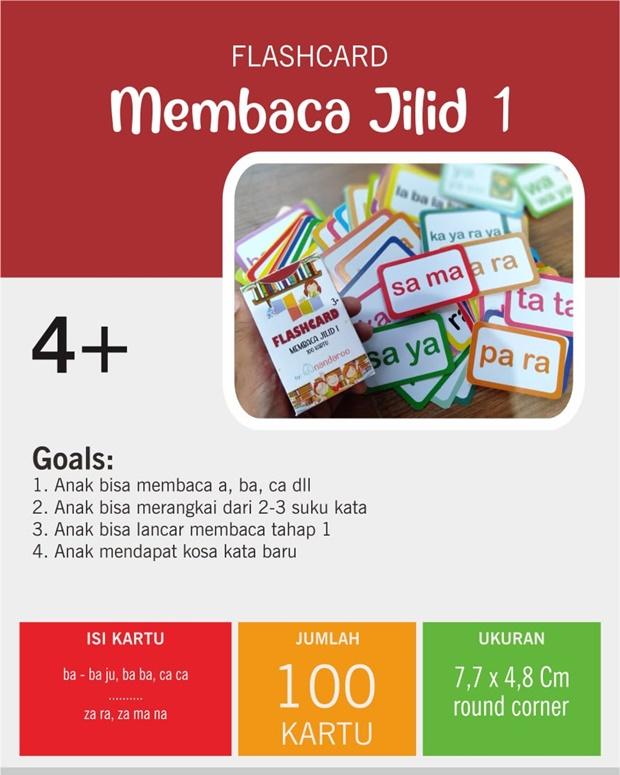 Flash Card Lancar Membaca Metode Cepat -  Jilid 1