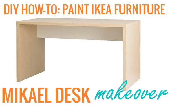 The lovely side diy how to paint ikea furniture mikael Ikea furniture makeover