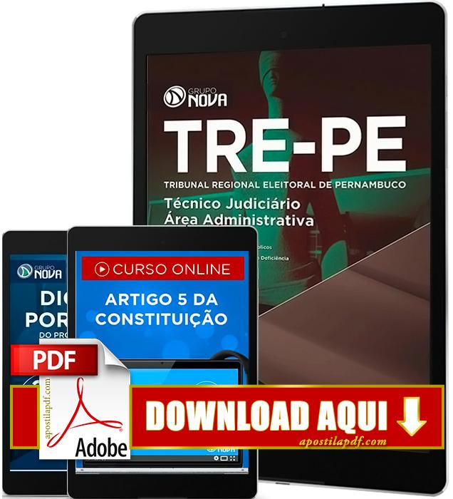 Apostila TRE PE 2016 Técnico Judiciário PDF Download