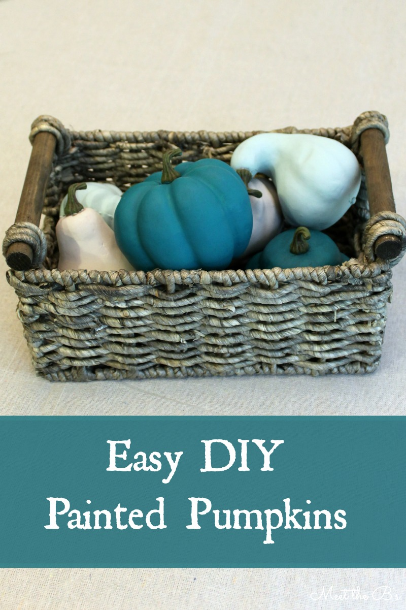 DIY Chalk Painted Faux Pumpkins
