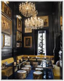 ide desain interior cafe klasik elegan